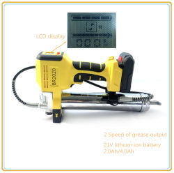 21V LCD 리튬 이온 건전지 윤활유 주입기