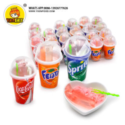 Botella de bebida Sugar-Free jalea de frutas dulces con polvo