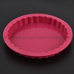 Forme ronde de gros de 100 % du silicone de qualité des aliments au micro-ondes moules à pâtisserie Cake casseroles