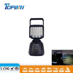 자석 베이스가 있는 12V LED 차량용 자동 충전 램프