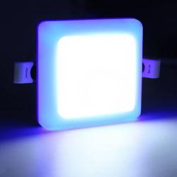 Commerce de gros Double Multi color Blanc froid pur à chaud 9 W Plafonnier LED carrés Frameless Lampe du panneau