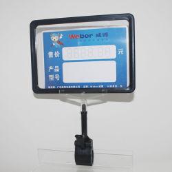 Preço de retalho de plástico da estrutura Pop assinar as etiquetas de preço a Presilha do Suporte