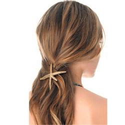 Femme élégante plage Coral Starfish Hair Clip Barrette Bobby en épingle à cheveux