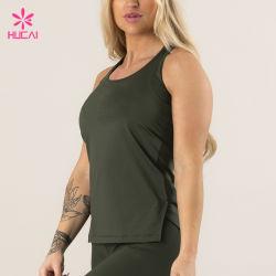 Mouwloos onderhemd van de Gymnastiek van de Vrouwen van de Kleren van de Training van de douane het Slanke Geschikte