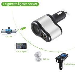 Doppel-USB-Auto-Feuerzeug-Aufladeeinheits-Kontaktbuchse-Teiler-Adapter 3.1A