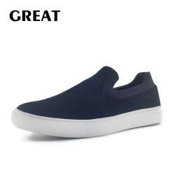 Greatshoe bereift neuester preiswerter populärer Mens-Rochen beiläufige Turnschuh-Müßiggänger-Freizeit-gehende Schuhe mit angepasst