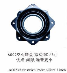 OEM ODM 3 pulgadas de 360 grados de rotación libre sin ruido Small Swinging tocadiscos hueco Gap en silencio el rodamiento de bolas de la placa giratoria A002