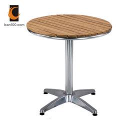 Resistentes a UV China moderna de muebles de madera aluminio Restaurante El Patio de la tabla de boda