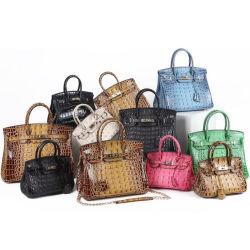 women Bag Luxury Designer 포도 수확 백금 고명한 숙녀 부대 진짜 실제적인 악어 가죽 가방 복사 부대 도매 유명 상표 부대 광저우 시장 OEM 공장