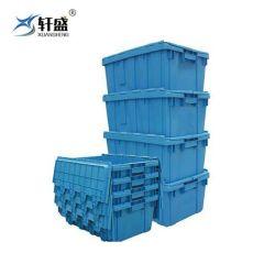 PP 물자 쌓을수 있는 Foldable 플라스틱 이동하는 상자 없음