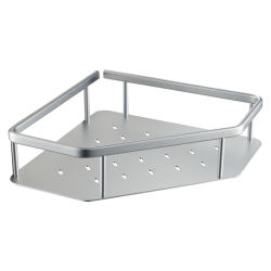 Luolin 목욕탕 샤워 선반 알루미늄 양극 처리되는 1명의 층 코너 선반 삼각형 선반 샤워 Caddy 조직자 927125