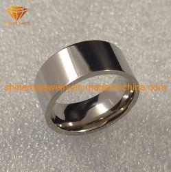 Poliertitanhochzeits-Ringe Tr2011 des Qualitäts-Schmucksache-reine Titankarosserien-Durchdringen-10mm