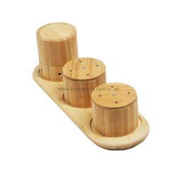Leverancier Ronde Bamboo Seasonings Cans Cup Coaster Isolatiemat