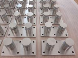 Raccord de rampe en verre de patch Ss Standoff escalier de verre pour la main courante
