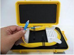Lançamento de testes OTDR Fibra Óptica Caixa de Cabo