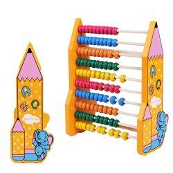 教育おもちゃを学んでいる子供のためのビードのそろばんのMontessoriのおもちゃを数える多彩な木のそろばんの数学のおもちゃ番号