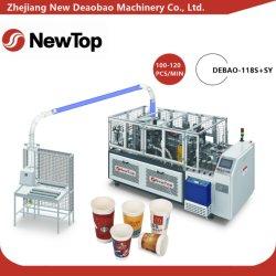 formadora de vasos de papel de alta velocidad totalmente automática (Debao-118S+SY)