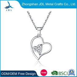 Collana coreana del cuore di stile dei bei delle signore dell'argento monili cubici di Zirconia (23)