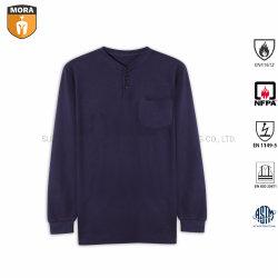 Nfpa 2112 Marine 100% van de Kleding van Fr de OpenluchtKleren van de Veiligheid van de Katoenen T-shirts van het Werk voor Mensen