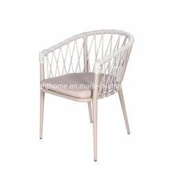Nouveau empilable populaire moderne de la corde en rotin de loisirs de plein air Garden Hotel Home Meubles Meubles fauteuil Fauteuil de salle à manger