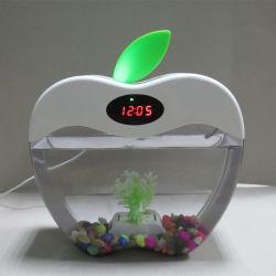 L'Aquarium en forme d'Apple, port USB Mini Aquarium Fish Tank Aquarium avec lampe à LED lumière