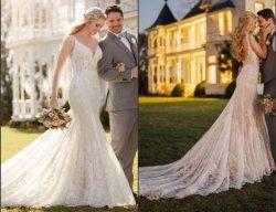 Lace Bridal Dress Mermaid 이브닝 웨딩 드레스를 입고 2020 마95