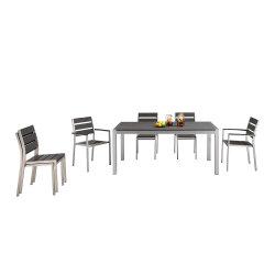 テラス椅子の庭の家具を食事するアルミニウム表の一定の余暇の多木