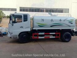 Verwendeter Wasser-Becken-LKW Dongfeng 10000L 10cbm Wasser Bowser ziemlich eben anstreichender Handtanker des Preis-zweite