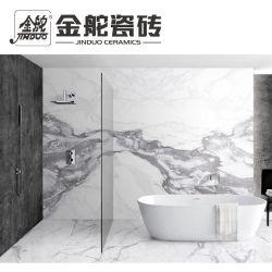 Carrara weißer MarmorMatt/glatte Oberfläche glasig-glänzende keramische Badezimmer-Fliese für Innenwand-Ausgangsdekoration