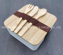 2020 Nouvelle Fibre de bambou écologique Bento Boîte à lunch avec couvercle en bambou avec une cuillère de fourche ensemble de couteau