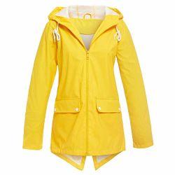여자는 두건 경량 비 재킷 액티브한 옥외 두건이 있는 비옷에 의하여 일렬로 세워진 여자의 긴 소매에 의하여 지퍼로 잠긴 트랜치 코트를 가진 재킷, 두건을%s 가진 겉옷을 를 위한 방수 처리한다