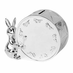 OEM Project - de Zilveren Huidige Gift van het Doopsel van de Baby van de Spaarpot Bunnykins