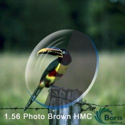 1,56 Фотохромных коричневый Hmc оптический объектив