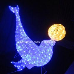 Xmasのプロジェクトの照明装飾LED動物LEDの白鳥の装飾