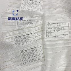 Атласная белая плакатная бумага9542 Ym полосы чередуются Silver Gold пряжи шифон шелк как полиэфирная ткань для одежды
