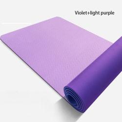 De in het groot Mat Met twee kanten van de Yoga Eco Vriendschappelijke Waterdichte TPE van de Gymnastiek van de Oefening van het Embleem van de Douane Antislip