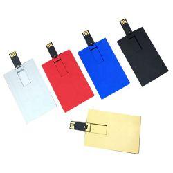 Les deux côtés de l'impression couleur métal forme de carte d'affaires de 4 Go/lecteur Flash USB 8 Go