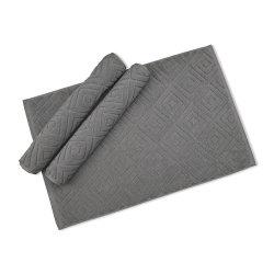 100% coton fils 21s Jacquard Coton Tapis de bain Tapis de bain de l'hôtel, tapis de coton de couleur unie