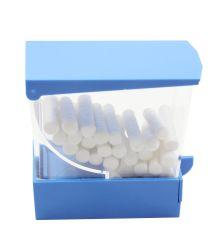Caixa de swab dental com botão de Gaveta dispensador de rolo de algodão