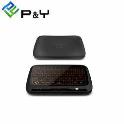 H18+ Teclado Bluetooth Mouse com caixa de TV Android com 2.4G com TV Programes retroiluminado