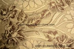 硫化第2すず(FTH32064)が付いている美しい花および葉のシュニールのジャカード