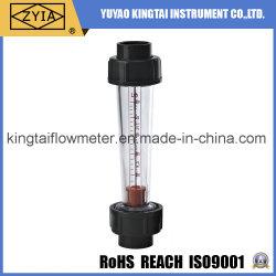 Tipo di plastica flussometro dell'acqua del tubo del tubo in-linea di serie di Lzs