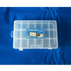 Organizador de plástico transparente de almacenamiento extraíbles los compartimentos de cuadros de la caja de herramientas