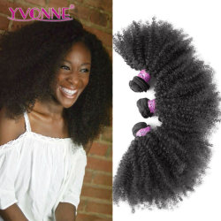 Yvonne Mayorista de cabello productos para el cabello Afro el cabello rizado rizado el cabello humano brasileño tejer