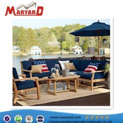 Praia exterior Mobiliário de Jardim Mesa de jantar e cadeiras ajustada restaurante pátio de madeira de teca mesa na sala de estar