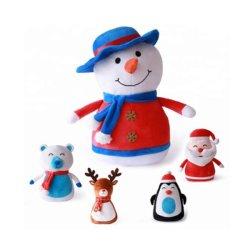 Weihnachtsplüsch angefüllte nette Schneemann-Geschenk-Spielwaren für Kind-Kinder