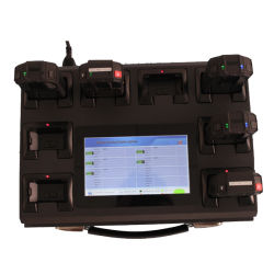 Réseau WiFi Station 8 ports pour corps de police de l'enregistreur de la caméra avec écran tactile 7 pouces