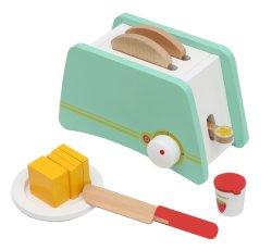 Adorável madeira elegante torradeira brinquedo com pão, compotas e manteiga Acessórios
