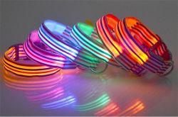 Glühender Hundehalsring des Nylon-LED