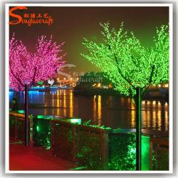 Luz de LED de exterior Árvore de Flor de Cerejeira Artificial